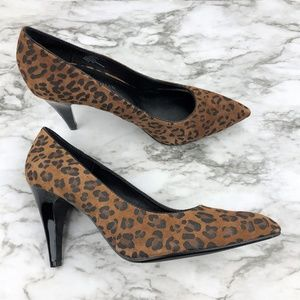 Dana Buchman Katarina Cheetah Leopard Leather Pump
